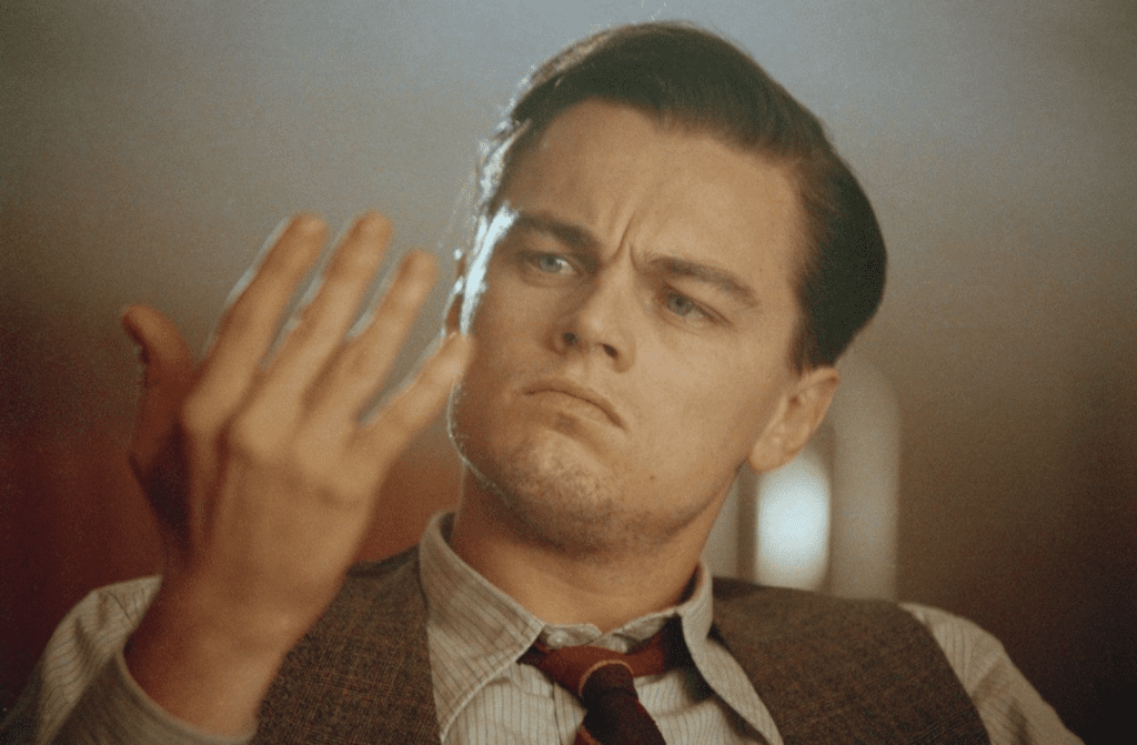 Leonardo DiCaprio from The Aviator movie playing role of Howard Huges who had OCD