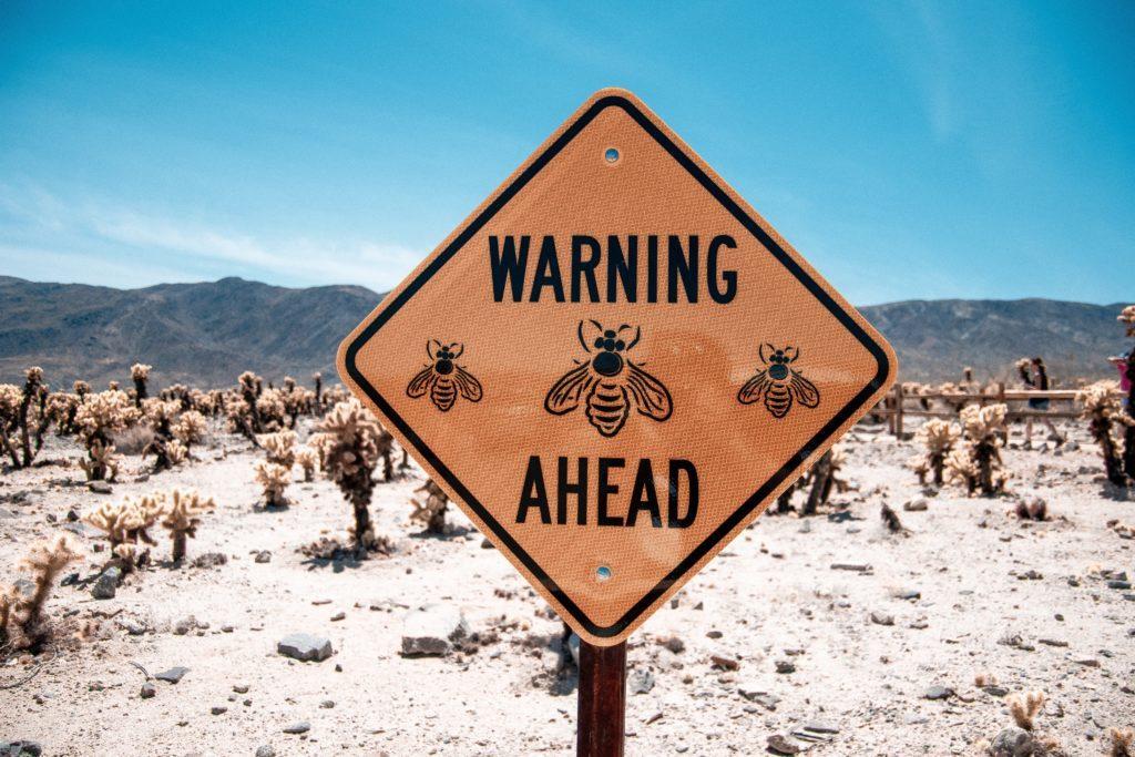 A warning sign board