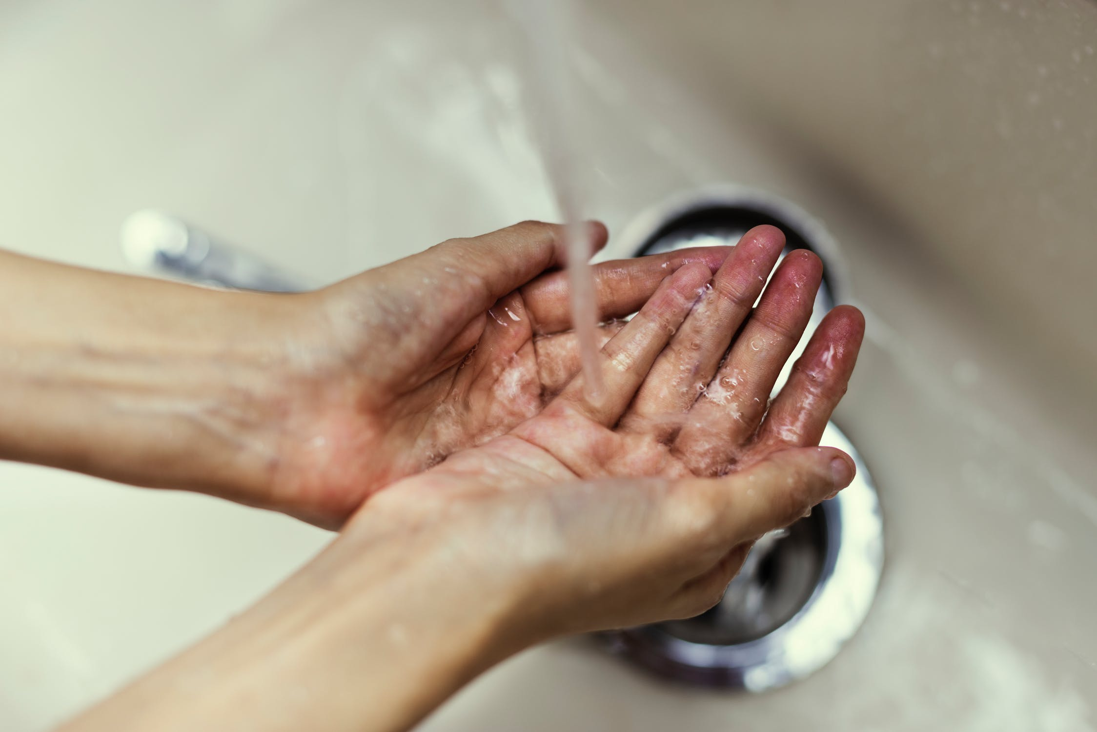 Washing hands during OCD